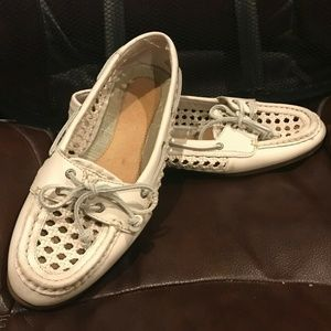 Sperry Audrey Cane Woven Slip-On Boat Shoes